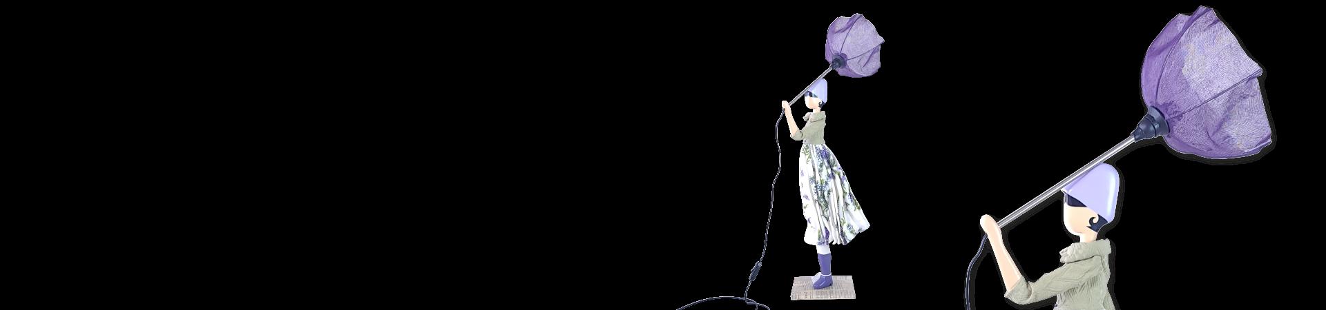 Tischlampe in form einer Dame